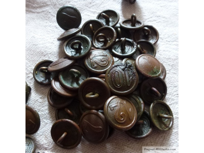 German Militaria WWI - Company buttons - Dugout-Militaria
