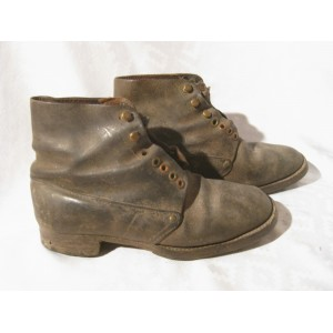 French Militria WWI - M17 shoes. Brodequin 1917