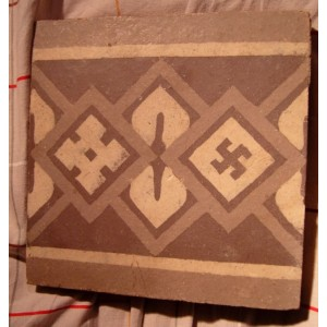 Piece of pavment with a swastika